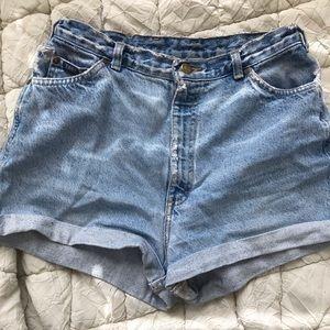 Brandy Melville High waisted jean shorts!